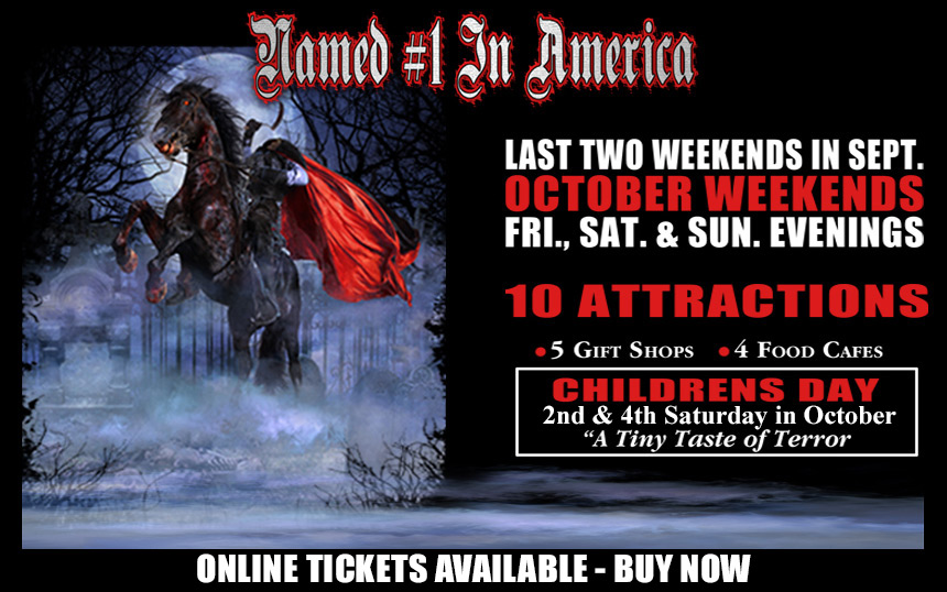 Headless Horseman tickets on sale Friday, August 14, 2015!
