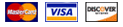 mastercard, visa and discover credit cards accepted.